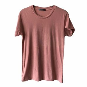 Brandy Melville Pink Short Sleeve Crew Nec…